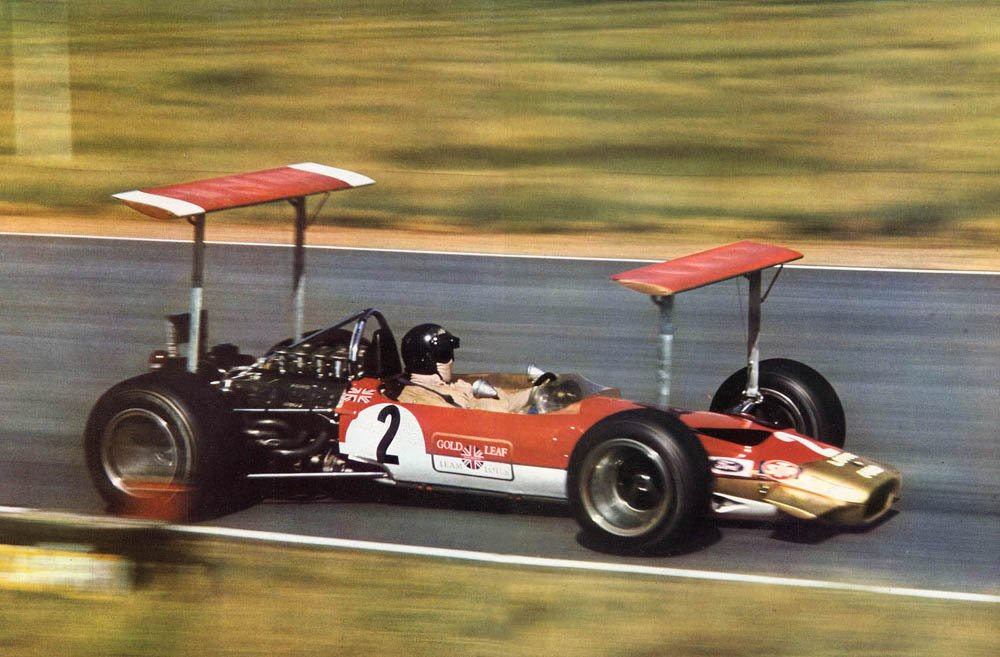 Lotus 49B en el GP de Sudáfrica
