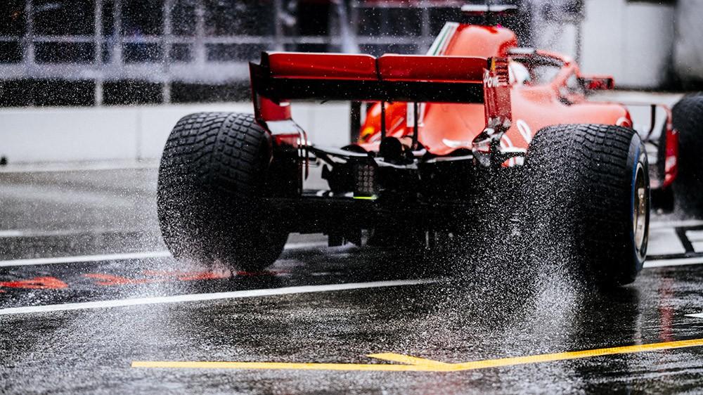 Ferrari lluvia F1