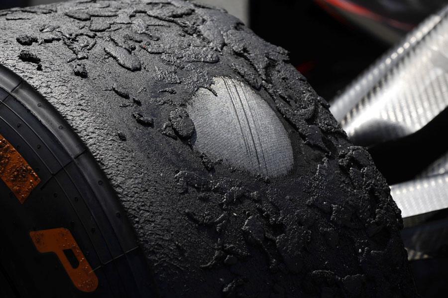 Desgaste neumático F1