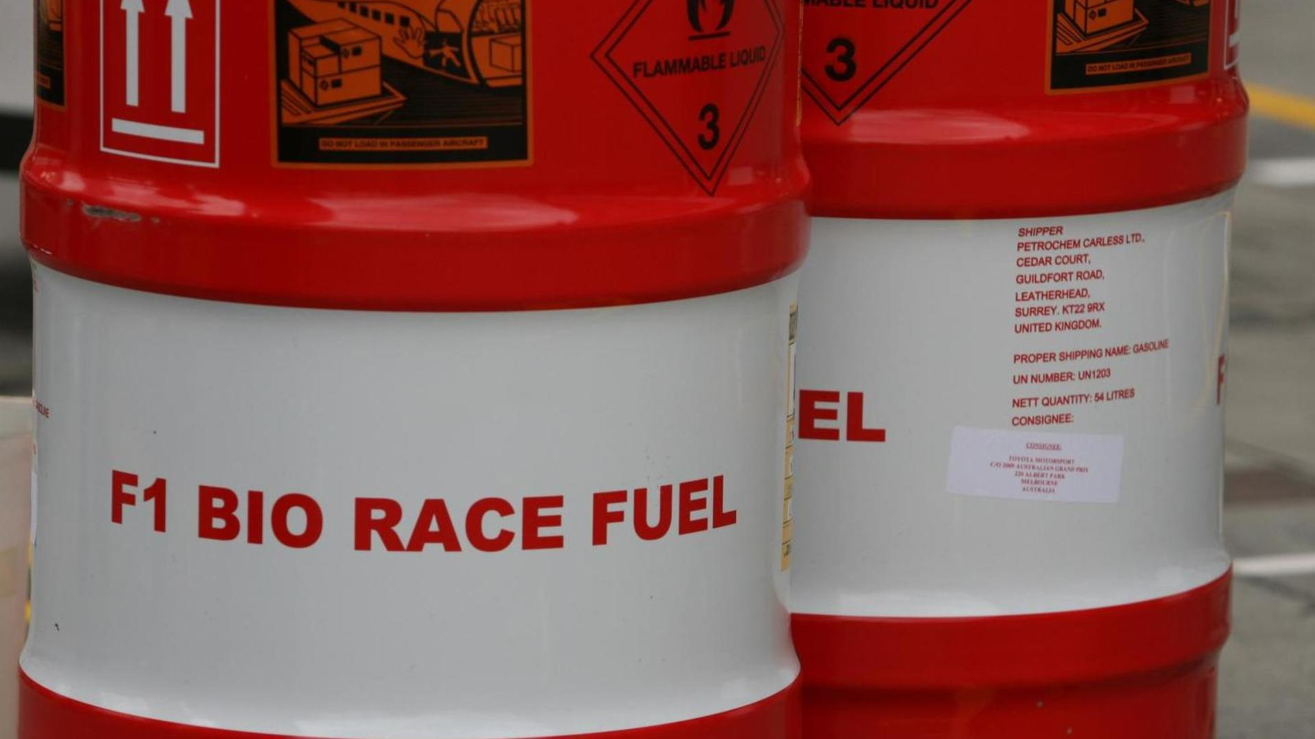 Combustible 2022 F1