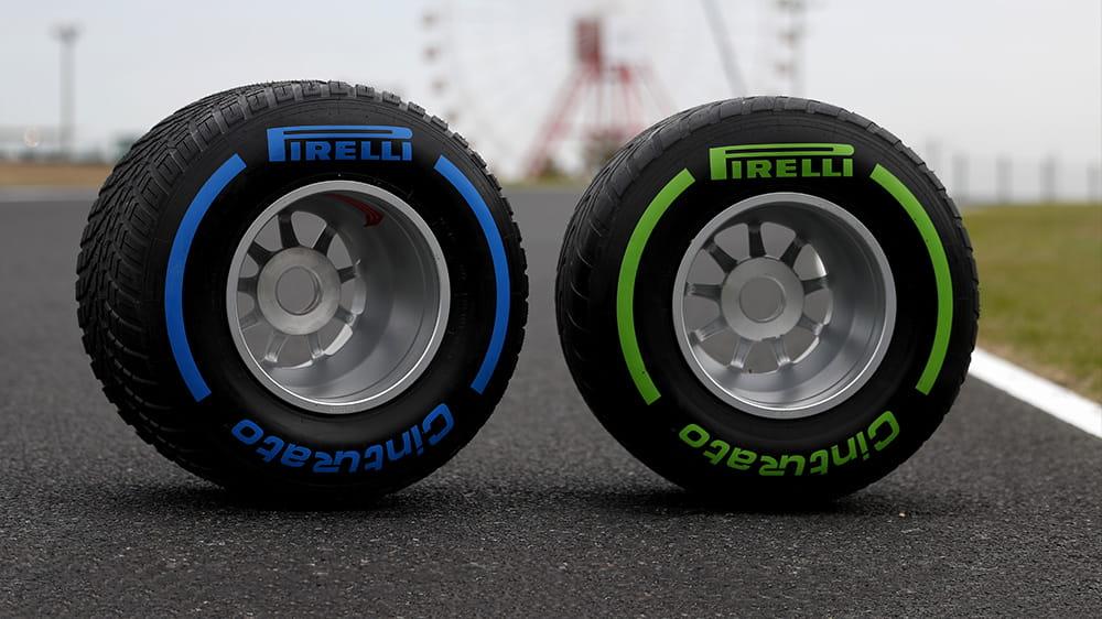 Neumáticos lluvia F1